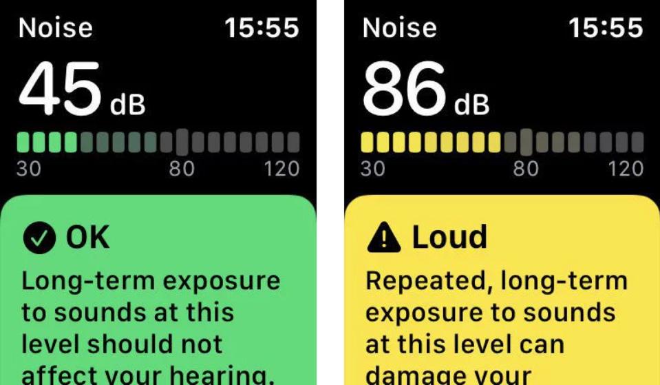 Apple Watch incluye una app para medir el ruido y alerta sobre los niveles perjudiciales